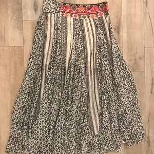 Free people printed maxi skirt
